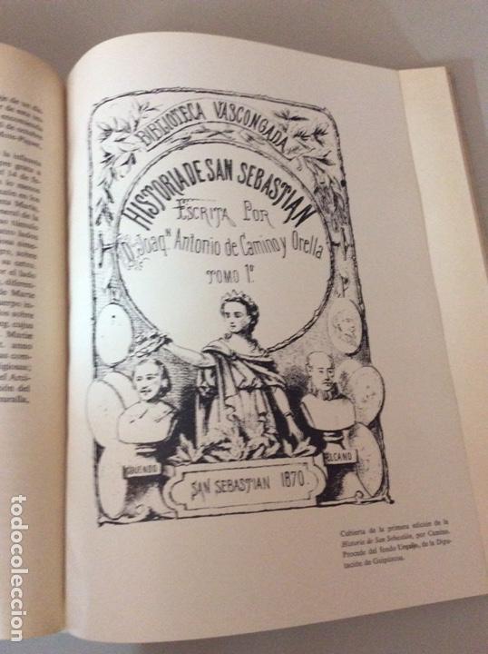 Libros: Historia de San Sebastián J.Antonio del Camino - Foto 4 - 206973398