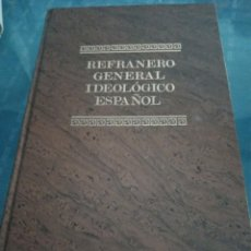 Libros: REFRANERO GENERAL IDEOLÓGICO ESPAÑOL. Lote 207255545