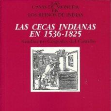 Libros: LIBRO DE LAS CECAS INDIANAS EN 1536-1825 , EDITADO POR LA F.N.M.T , SIN ESTRENAR. Lote 207334823