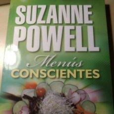 Libros: MENÚS CONSCIENTES. SUZANNE POWELL. Lote 209715687