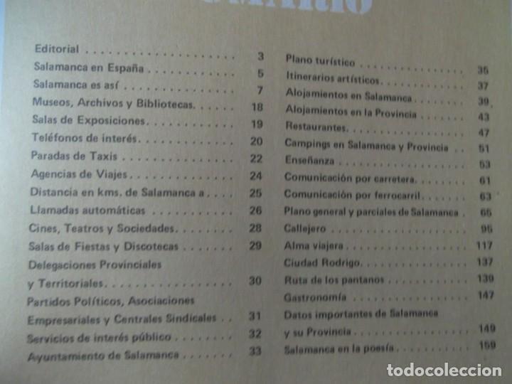 Libros: Salamanca ! Guía informativa comercial turística 1985 . Libro - Foto 2 - 214428032