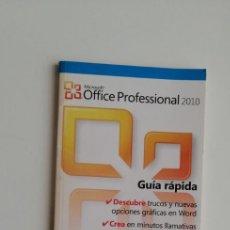 Livres: G-33 LIBRO GUIA RAPIDA MICROSOFT OFFICE 2010. Lote 215658661