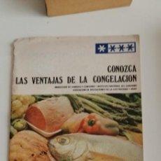 Libros: G-33 LIBRO CONOZCA LAS VENTAJAS DE LA CONGELACION MINISTERIO DE SANIDAD Y CONSUMO. Lote 215658728