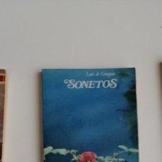 Libros: G-34 LIBRO LUIS DE GONGORA SONETOS. Lote 215665957