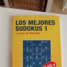 Libros: G-34 LIBRO LOS MEJORES SUDOKUS 1 AGUSTIN FONSECA. Lote 215668262