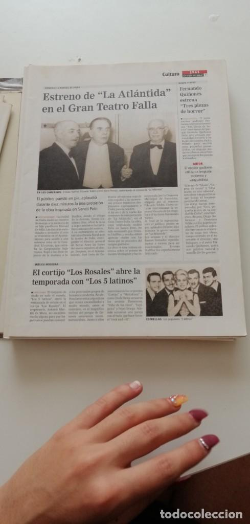 Libros: G-34 LIBRO DIARIO DE CADIZ UN SIGLO EN PAPEL 1901-2000 - Foto 7 - 215668732
