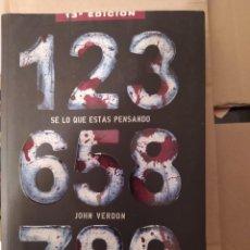 Libros: SE LO QUE ESTAS PENSANDO JHON VERDOM ENVIO CERTIFICADO INCLUIDO. Lote 216625907