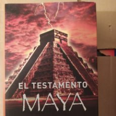 Libros: EL TESTAMENTO MAYA STEVE ALTEN ENVIO CERTIFICADO INCLUIDO. Lote 216625956