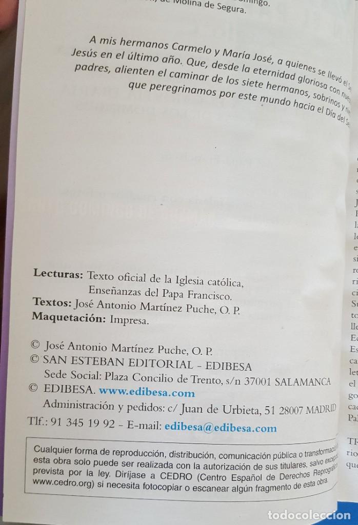 Libros: LIBRO / EVANGELIO 2019 CON EL PAPA FRANCISCO (CICLO C) - JOSÉ A. MARTÍNEZ PUCHE, O.P. - Foto 2 - 217003643