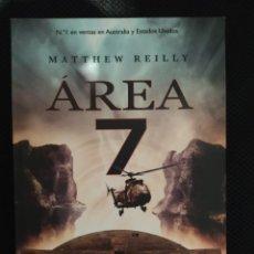 Libros: THRILLER BEST SELLER AREA 7. MATTHEW REILLY . ENVIO CERTIFICADO INCLUIDO. Lote 217011453