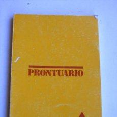 Libros: LIBRO PRONTUARIO SIKA. Lote 217987463