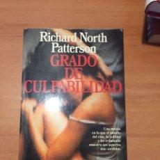 Libros: GRADO DE CULPABILIDAD. Lote 218157992