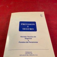 Libros: PREVISIÓN Y SEGURO. Lote 218358917