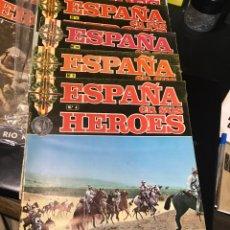 Libros: ESPAÑA EN SUS HÉROES NÚMEROS 4, 7, 14, 11, 16 Y 3. Lote 218906722