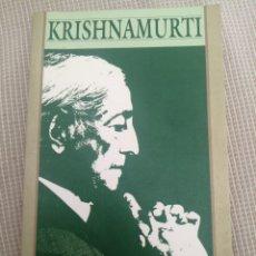 Libros: KRISHNAMURTI SOBRE LAS RELACIONES. Lote 219269883
