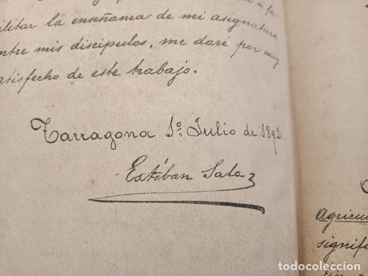 Libros: NOCIONES DE TECNOLOGIA AGRICOLA, ESTEBAN SALA, APUNTES A MANO DE 1892 - Foto 3 - 219848055