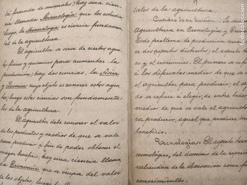 Libros: NOCIONES DE TECNOLOGIA AGRICOLA, ESTEBAN SALA, APUNTES A MANO DE 1892 - Foto 4 - 219848055