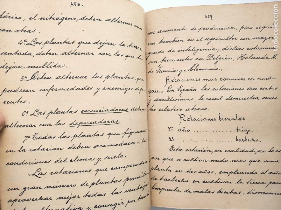 Libros: NOCIONES DE TECNOLOGIA AGRICOLA, ESTEBAN SALA, APUNTES A MANO DE 1892 - Foto 5 - 219848055