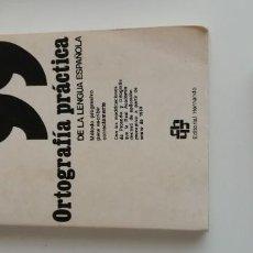 Libros: G-34 LIBRO ORTOGRAFIA PRACTICA DE LA LENGUA ESPAÑOL LUIS MIRANDA PODADERA. Lote 220419455