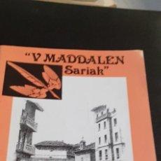 Libros: V MADDALEN SARIAK ERRENTERIA. Lote 221592676