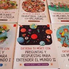 Libros: DE 9 A 99 AÑOS / ENTRENA TU MENTE CON... MIQUEL CAPÓ - 2018 / COMPLETO A ESTRENAR.. Lote 222652160