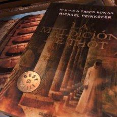 Libros: LA MALDICIÓN DE THOT MICHAEL PEINKOFER BEDT SELLER. Lote 222709068