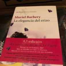 Libros: MURIEL BARBERY LA ELEGANCIA DEL ERIZO SEIX BARRAL. Lote 222709128