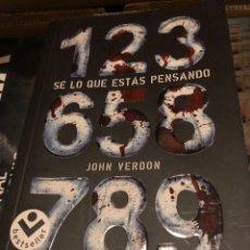 Libros: JOHN VERDON SE LO QUE ESTÁS PENSANDO. Lote 222709628