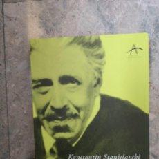 Libros: EL TRABAJO DEL ACTOR SOBRE SI MISMO KONSTANTIN STANISLAVSKI. Lote 223924605