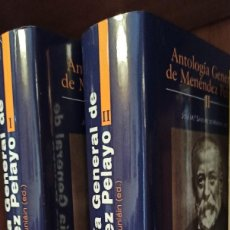 Libros: ANTOLOGÍA GENERAL DE MENÉNDEZ PELAYO, ED. J.Mª SÁNCHEZ DE MUNIÁIN (BAC). Lote 224913203