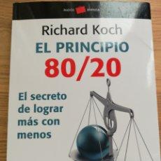 Livres: EL PRINCIPIO 80 20.RICHARD KOCH.. Lote 226782505