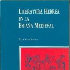 Libros: LITERATURA HEBREA EN LA ESPAÑA MEDIEVAL. -. Lote 277853688