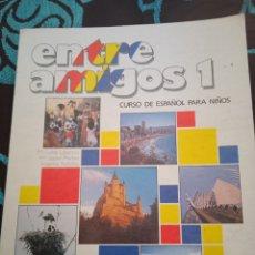 Libros: LIBRO ENTRE AMIGOS 1 . CURSO DE ESPAÑOL PARA NIÑOS. 1990 . LIBRO Y CUADERNO DE EJERCICIOS.. Lote 228007890