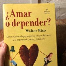 Libros: ¿APRENDER O DEPENDER? SUPERAR EL APEGO. Lote 228194785
