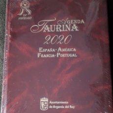 Libros: AGENDA TAURINA 2020. Lote 228574875