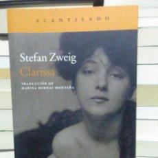 Libros: STEFAN ZWEIG.CLARISSA.ACANTILADO. Lote 277850948