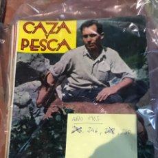Libros: REVISTA CAZA Y PESCA AÑO 1963 10 NÚMEROS. Lote 232299150