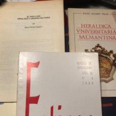 Libros: CONJUNTO DE ONCE FOLLETOS SOBRE HERALDICA. Lote 233143655