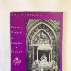 Libros: RELIGIOSO. SEVILLA. COFRADÍAS. HERMANDADES. LA CRISIS ACTUAL EN EL CULTO MARIANO. Lote 235243875