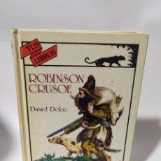 Libros: ANAYA TUS LIBROS DE AVENTURAS.ROBINSON CRUSOE.DANIEL DEFOE. , 6°EDICIÓN 1989. Lote 235852760