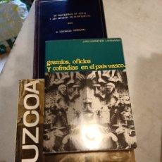 Libros: TRES LIBROS SOBRE GUIPÚZCOA PAÍS VASCO. Lote 240189315