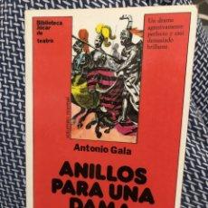 Livres: ANILLOS PARA UNA DAMA - ANTONIO GALA. Lote 247791680