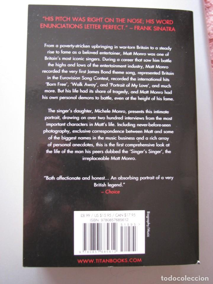Libros: Libro Matt Monro, The singer´s singer, biografía de Michele Monro, edición inglés, nuevo a estrenar - Foto 2 - 252570855