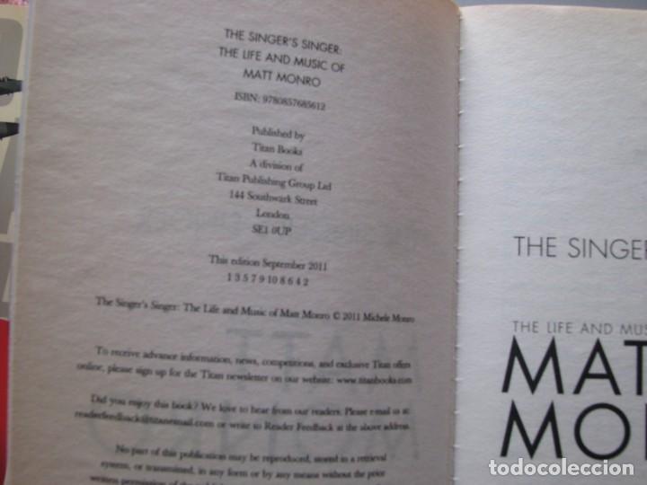 Libros: Libro Matt Monro, The singer´s singer, biografía de Michele Monro, edición inglés, nuevo a estrenar - Foto 6 - 252570855