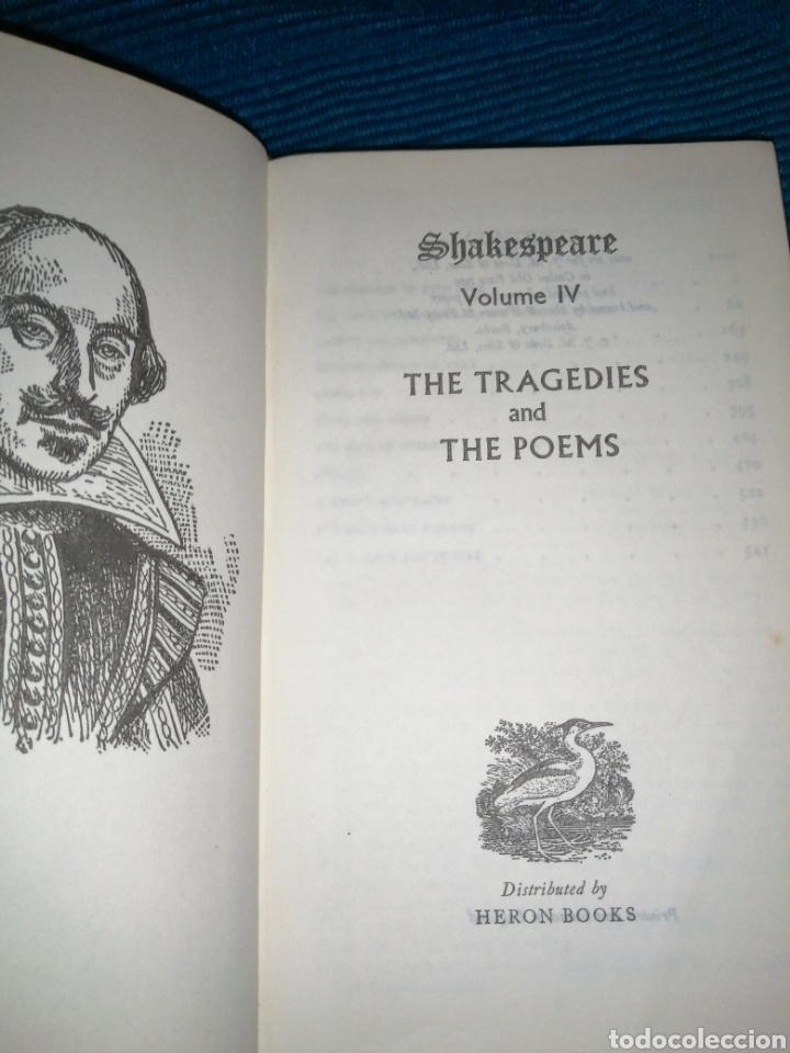 Libros: SHAKESPEARE VOLIV, THE TRAGEDIES AND THE POEMS, HERON BOOKS - Foto 2 - 254824435