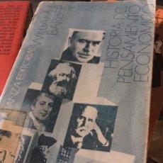 Libros: HISTORIA DEL PENSAMIENTO ECONÓMICO WILLIAM J. BARBER. Lote 255601160