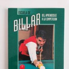 Libros: ESCUELA DE BILLAR DE JOSÉ MARÍA QUETGLAS. Lote 257283975