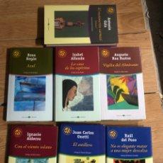 Livros: LOTE DE LIBROS LAS MEJORES NOVELAS ANTONIO GALA ROSA REGAS JUAN DEL POZO ALLENDE ISABEL. Lote 260054020