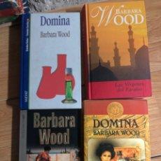 Libros: LOTE BARBARA WOOD VIRGENES DEL PARAISO FUEGO DE LA VIDA DOMINA. Lote 260328050