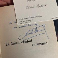 Libros: DEDICADO POR EL AUTOR 1967 COMPLETA EN CAJA RAOUL FOLLEREAU LA ÚNICA VERDAD ES AMARSE. Lote 260680980